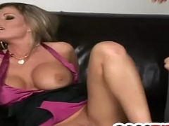 Ride herd on his busty Mr Big brass Kristal Summers