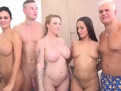 Jasmin Jae, Mea Melone together with Harmony Reigns in an orgy