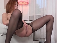 Wetandpuffy - Hose enervating redhead taunts her puffy wet crack and ass