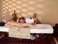 Busty amateur sixtynining far her masseur