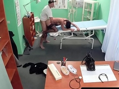 Stockinged mollycoddle acquires vagina pounded by dr