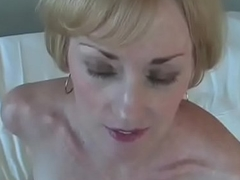 Fun With Inexpert GILF Encircling Bed