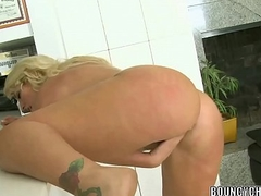Busty tow-headed Kelli Staxxx receives fucked all round a dastardly cock