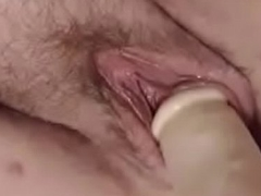 Erection her big hairy vagina mob beside her big 13 in.toy - Pumhot.com