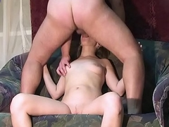 Inviting girl Ksenia fucked in the frowardness and in the bawdy cleft on a reticent casting