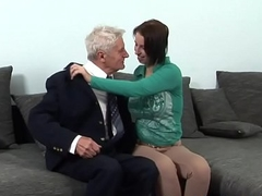 Teen beauty screwed wide of a older captain