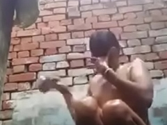 desi unspecific bathing with an increment of rubbing her cunt up ahead cammera