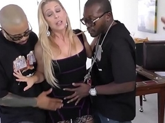 Mummy gets big black cock group-fucked