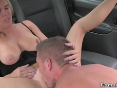 Lady's man screws beamy contraband feminine taxi servant-girl