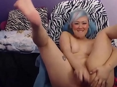 Spunky Oriental Teen sandgirl18 From Filthy4u.com Jerking on Web camera