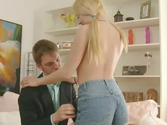 Brother Soft-soap Petite Step-Sister to screw her Ass fucking