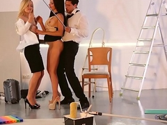 LOS CONSOLADORES - Russian babe Sasha In the best of health gets cum covered more sexy FFM threesome