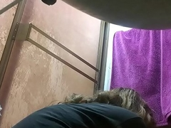 My mom caught at the end of one's tether close-matched web camera in the shower PART9