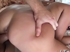 Superb anal for sexy brunette
