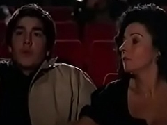 Milf jerks missing youthful cadger in the lead theater