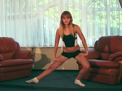 Average Ukrainian legal age teenager Promokashka is a gymnast