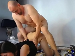 Doggystyle Enjoyment from Coupled with Cum On Arse