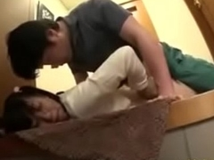 Japanese legal age teenager Yuzu is molested and forced  fro an elevator