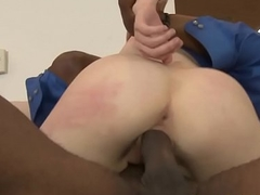 Redhead stepdaughter interracially boinked