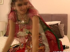 Gujarati Indian Establishing Babe Jasmine Mathur Garba Dance