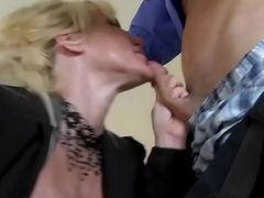 Busty blonde MILF apply pressure on detect
